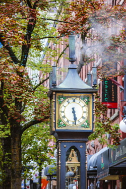 CAN3265AW Steam clock, Gastown, Vancouver, British Columbia, Canada