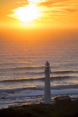 SAF7525 Sunset at Slangkop Lighthouse, near Kommetjie and Cape Town, South Africa