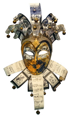 SCO34835AW Europe, Scotland, Lothian, Edinburgh, National Museum of Scotland, Venetian Carnival Mask