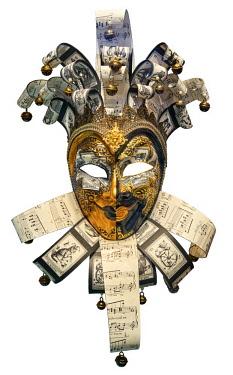SCO34835AW Europe, Scotland, Lothian, Edinburgh, National Museum of Scotland, Venetian Carnival Mask