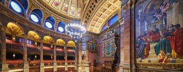 SCO34853AW Europe, Scotland, Lothian, Edinburgh, McEwan Hall Interior