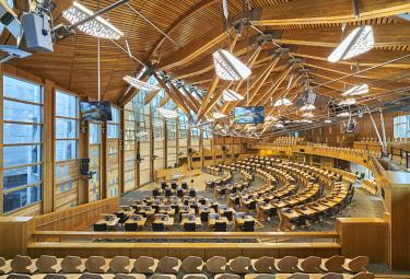 SCO34889AW Europe, Scotland, Lothian, Edinburgh, Scottish Parliament Building Interior