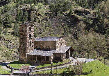 HMS2228947 Andorra, Canillo, Valira d'Orient, romanesque church of San Joan de Caselles