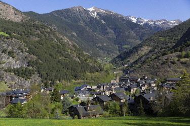 HMS2228954 Andorra, Ordino village, Valira del Nord