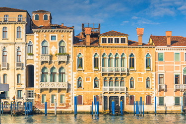 ITA11704AW Venice, Veneto, Italy. Waterfront palace on the Grand Canal.