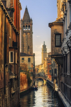 ITA11705AW Campo San Barnaba, and Ca' Rezzonico, Venice, Veneto, Italy.
