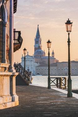 ITA11796AW Venice, Veneto, Italy. San Giorgio Maggiore from the waterfront in Dorsoduro.