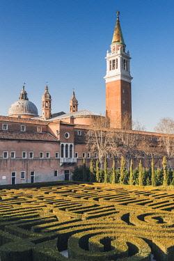 ITA11813AW The Borges Labyrinth in San Giorgio Maggiore, Venice, Veneto, Italy.