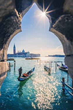 ITA11837AW St Mark's waterfront and San Giorgio Maggiore, Venice, Veneto, Italy.