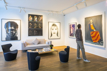 HMS2997873 Belgium, Brussels, Ixelles area, Rue du chatelain, Maison Particuliere, private contemporary art center and founded in 2011 by two French collectors Amaury and Myriam de Solages,