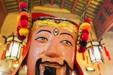 TPX62270 China, Hong Kong, Central, Hollywood Road, Man Mo Temple, Statue of Taoist God