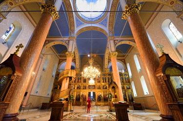 HMS2098765 Bosnia and Herzegovina, Sarajevo, Serbian Orthodox Cathedral Church of the Nativity of the Theotokos