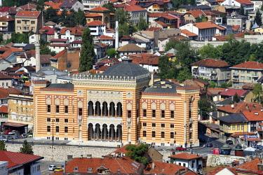 HMS2098766 Bosnia and Herzegovina, Sarajevo, the National and University Library
