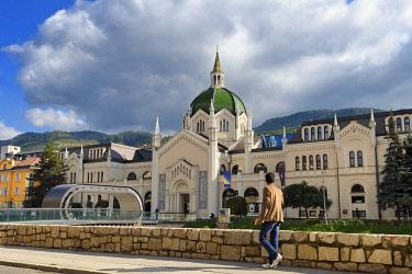 HMS2098769 Bosnia and Herzegovina, Sarajevo, academy of Fine Arts