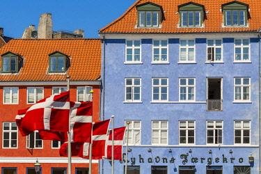 HMS2997142 Denmark, Zealand, Copenhagen, Nyhavn district (new port), houses of the eighteenth century