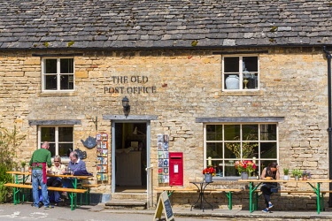 United Kingdom, Gloucestershire, Cotswold district, Cotswolds region, Guiting Power, The Old Post Office, shop decoration, souvenirs and tea room located in the former village post