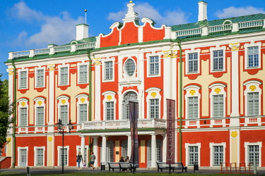 HMS2869303 Estonia (Baltic States), Harju region, Tallinn, historical center listed as World Heritage by UNESCO, Kadriorg Palace, located in Kadriorg Park, built in 1718 by the Italian architect Niccolò Michett...