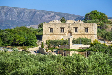 HMS3119485 Greece, Eastern Crete, Lassithi district, Etia Venetian village, 17th century restored mansion
