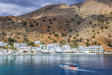 HMS2868804 Greece, Crete, south coast, the little village of Loutro only reachable by boat