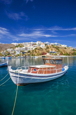 HMS2874873 Greece, Crete, Messara bay, Agia Galini, traditional fishing village on the southern coast