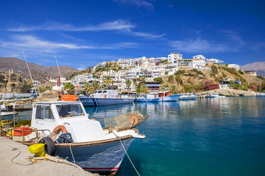 HMS2874877 Greece, Crete, Messara bay, Agia Galini, traditional fishing village on the southern coast