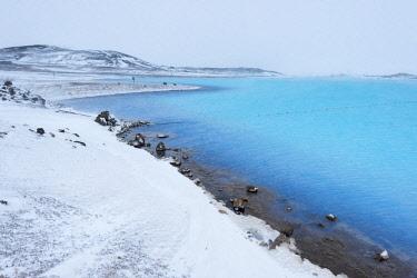 HMS2034044 Iceland, Nordurland Eystra region, hot spring near Myvatn