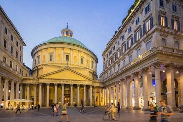 HMS2071565 Italy, Lombardy, Milan, neo classic church San Carlo al Corso dedicated to saint Charles Borromeo, place San Carlo