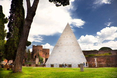 HMS2196823 Italy, Latium, Rome, Testaccio Neighbourhood, Piramide area, Non Catholic Cementery of Rome