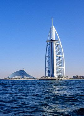 UAE0556AW Burj Al Arab and Jumeirah Beach Hotels, Dubai, United Arab Emirates