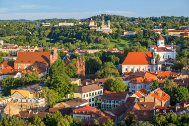 Lithuania (Baltic States), Vilnius, historical center, listed as World Heritage by UNESCO from the hill of Gediminas