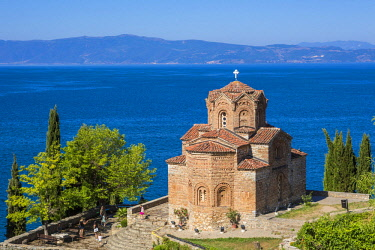 HMS1997265 Republic of Macedonia, Lake Ohrid, listed as World Heritage by UNESCO Site, the Church of St John of Kaneo Byzantine style of the XIIIth century