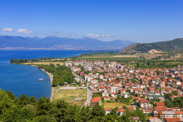 HMS1997304 Republic of Macedonia, Ohrid, listed as World Heritage by UNESCO Site, view from the fortress of Samuel