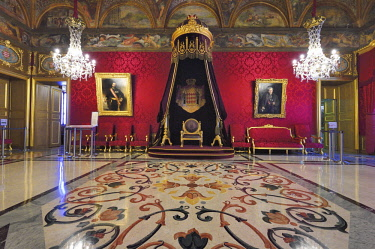 HMS2088747 Principality of Monaco, Monaco, the Rock, the royal palace, Throne Room