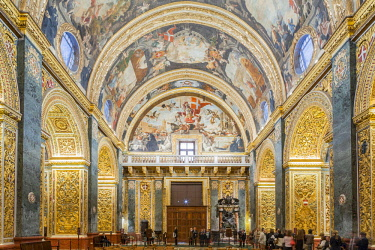 HMS2100360 Malta, Valletta, city listed as World Heritage by UNESCO, Co-Cathedral of Saint John built between 1573 and 1577 by the Knights of the Order of Saint John of Jerusalem according to the plans of the Ma...