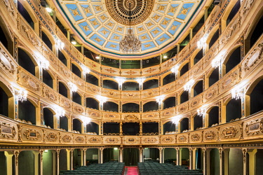 HMS2100363 Malta, Valletta, National Theatre Manoel Italian theater dating from 1732 is the oldest still in use in Europe