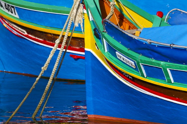 HMS2106586 Malta, Marsaxlokk, typical Maltese boat of Phoenician origin