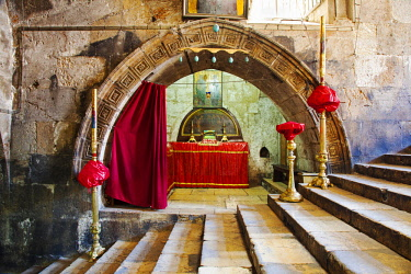 ISR0292 Israel, Jerusalem. The  chapel of Saints Joachim and Anne originally the tomb of Queen Melisande of Jerusalem at the Church of Assumption a very important shrine for Catholics as it is believed to be...