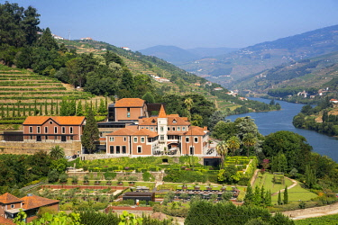 HMS2309993 Portugal, Douro Valley and its vineyards listed as UNESCO World Heritage, Six Senses Douro Valley Hotel
