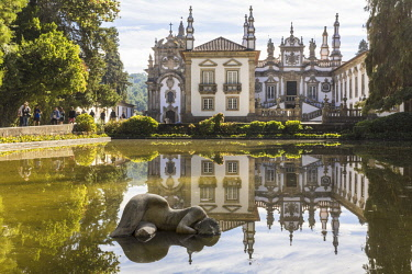 HMS2690829 Portugal, Vila Real, the 18th Century baroque palace and arts foundation (Fundacao da Casa de Mateus) built in the first half of the 18th Century by Antonio Jose Botelho Mourao (1688-1746), 3rd Morgad...
