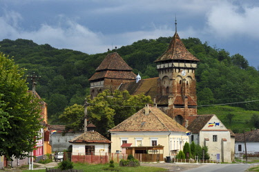 Romania, Transylvania, Valea Viilor (in German Wurmloch), the fortified church listed as World Heritage by UNESCO