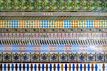 HMS2436851 Spain, Andalusia, Seville, Santa Cruz district, tiles