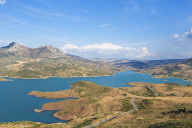 HMS2451652 Spain, Andalucia, Cadix province, Zahara de la Sierra, Sierra de Grazalema Natural Parc, Zahara El Gastor lake