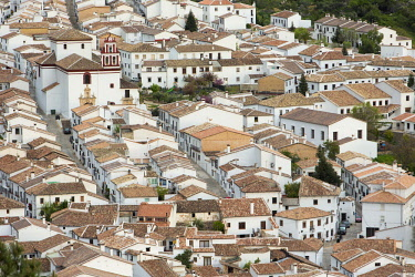 HMS2618446 Spain, Andalucia, Province of Cadiz, Grazalema, Sierra de Grazalema Natural Parc, White village (Pueblos Blancos)