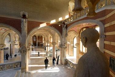 HMS2953383 Spain, Catalonia, Barcelona, El Guinardo District, Hospital de la Santa Creu i de Sant Pau listed as World Heritage by UNESCO, with Modernist Style by architect Domenech i Montaner