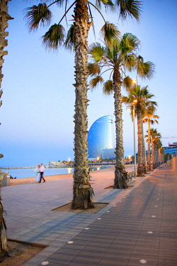 HMS2680768 Spain, Catalonia, Barcelona, Barceloneta, district, W Hotel better known as Vela (Sailing) Hotel