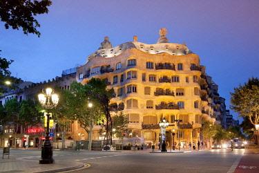 HMS2680818 Spain, Catalonia, Barcelona, Passeig de Gràcia, Casa Milà better known as La Pedrera after architect Antoni Gaudì