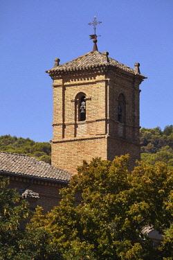 HMS3091796 Spain, Navarra, Estella, step on the way to Santiago de Compostela, Bell tower of Santa Clara Convent