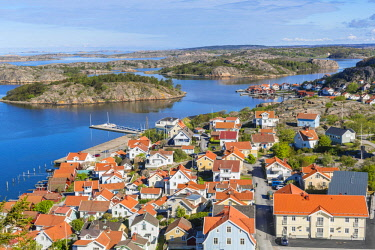 HMS1933138 Sweden, Bohuslan province, Vastra Gotaland County, Fjallbacka, old fishing port became a summer resort known to have been frequented by Ingrid Bergman and being the birthplace of Camilla Lackberg ther...