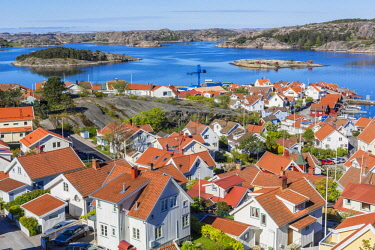 HMS1933156 Sweden, Bohuslan province, Vastra Gotaland County, Fjallbacka, old fishing port became a summer resort known to have been frequented by Ingrid Bergman and being the birthplace of Camilla Lackberg ther...