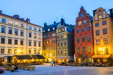 HMS3179733 Sweden, Stockholm, Gamla Stan Island, Old Town, Stortorget Square